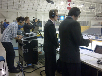 Ryerson's broadcast team taking charge