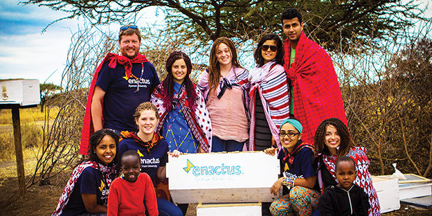 Members of Enactus Ryerson took a trip to Dago, Kenya in March of last year to teach financial literacy.