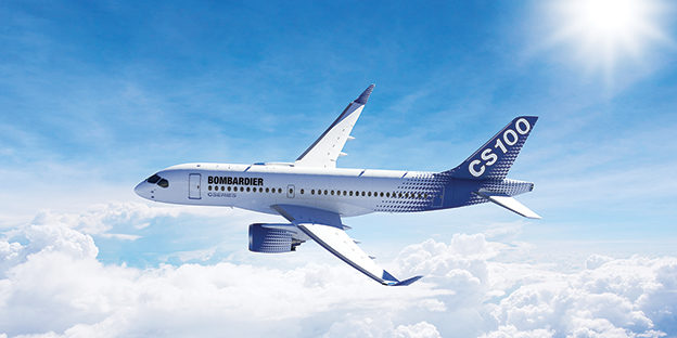 The new CS100, which Porter hopes to fly from the island airport. Courtesy Bombardier.