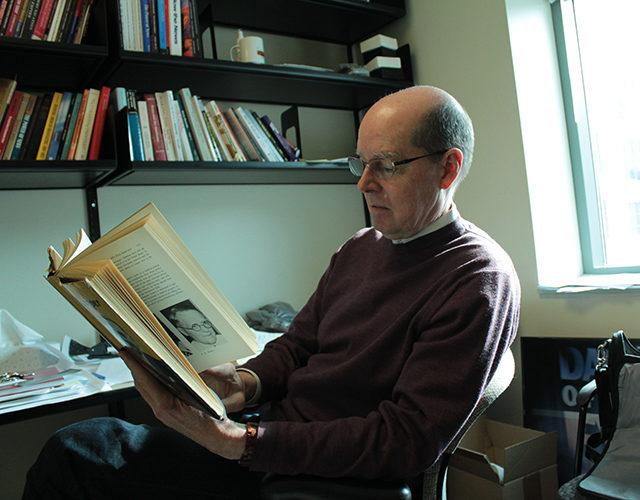 Journalism professor Gene Allen in his Ryerson office on February 12, 2013. (Maria Assaf/Ryersonian Staff).