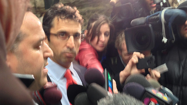 Lisi's lawyers spoke to media after his bail hearing Friday. (Arman Aghbali/Ryersonian Staff).