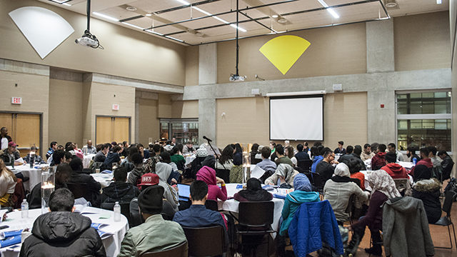 RSU members attend the union's semi-annual general meeting on Wednesday, Nov. 13. (Mohamed Omar / Ryersonian Staff)