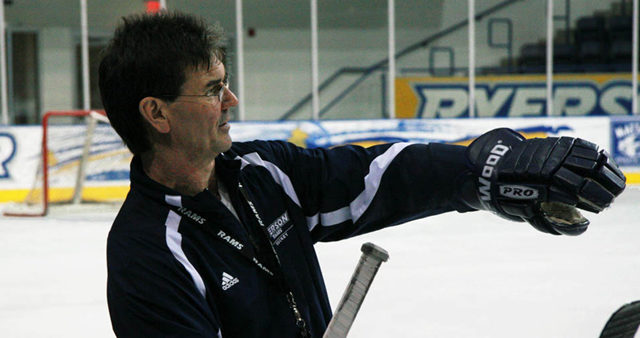 Wise was back on the ice Monday to run Rams' practice.  (Dan Berlin/Ryersonian Staff)