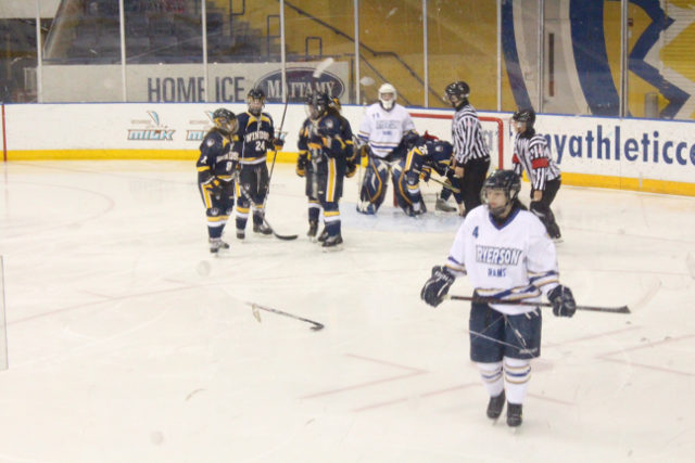 The Windsor Lancers beat the Ryerson Rams by 20 points in Saturday's game at the MAC. Nov. 2. (Stefan Morrone/Ryersonian Staff).