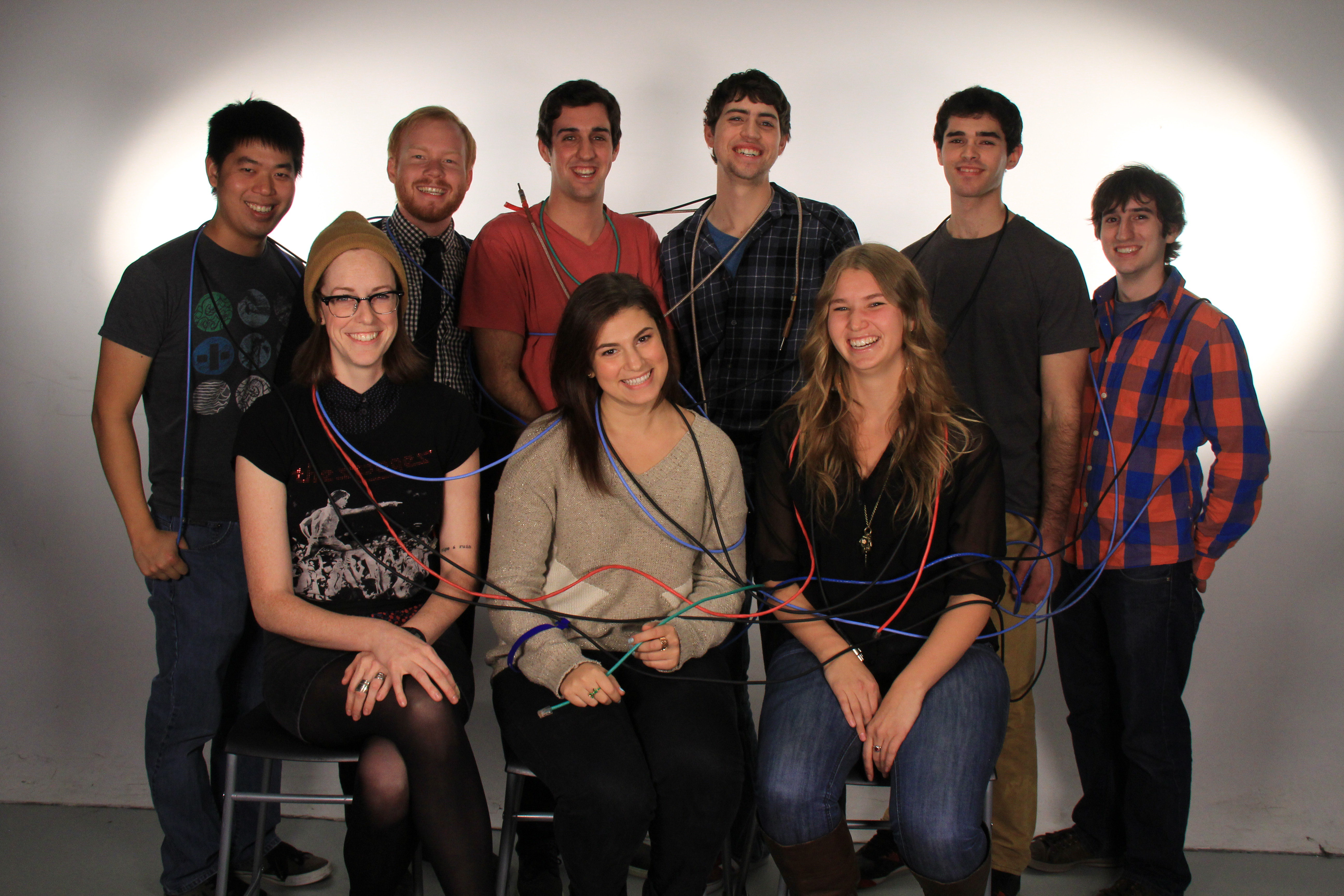 The group of fourth-year students get creative with their practicum