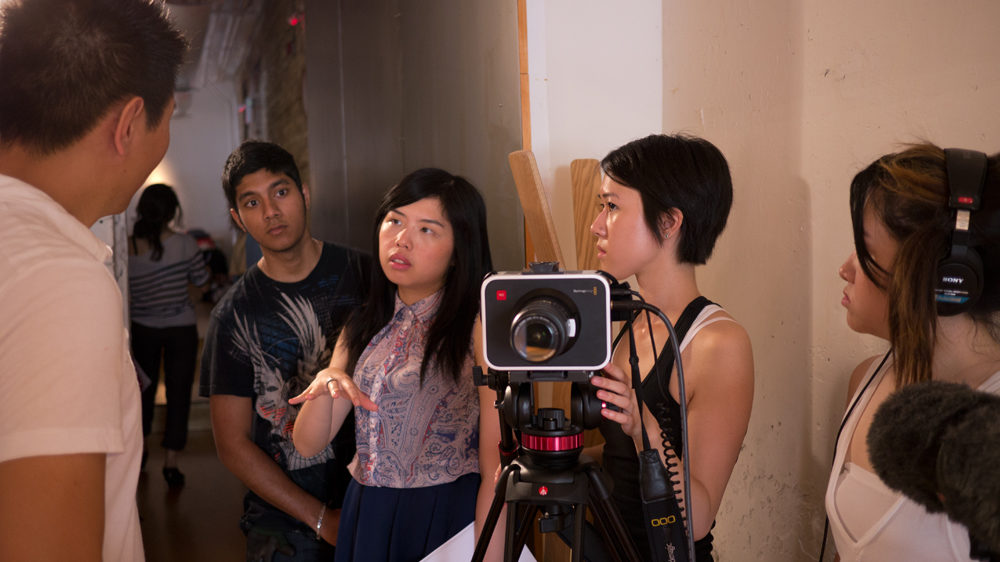 Program participants of Unsung Voices 2. From left to right: Shehzeb Iftakhar, Betty Xie, Nicole Wong, Tiffany Kwan.