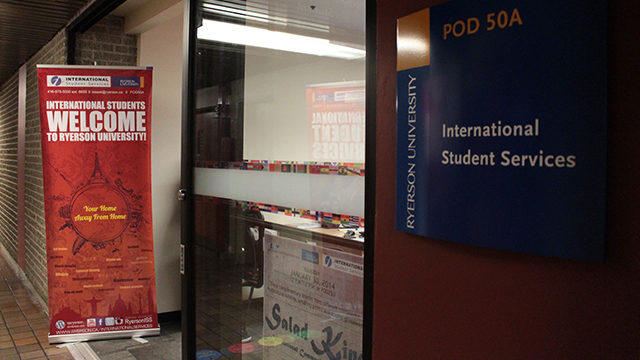 The International Student Services Centre on campus (Meaghan Yuen/Ryersonian Staff).