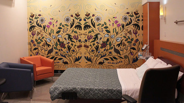 One of the birthing rooms at the Toronto Birth Centre. (Victoria Kuglin/Ryersonian Staff)