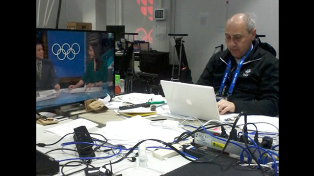 Ryerson journalism instructor working with CBC to cover the Winter Olympics in Sochi. (Courtesy Mark Bulgutch)