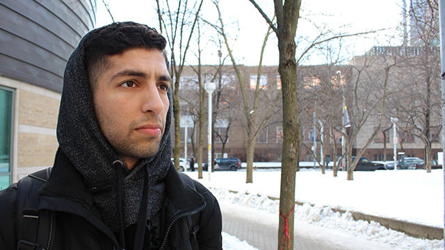 Abdul-Matin Khandwala struggles with the winter blues but has learned how to deal with the symptons. (Angela Hoyos / Ryersonian Staff)