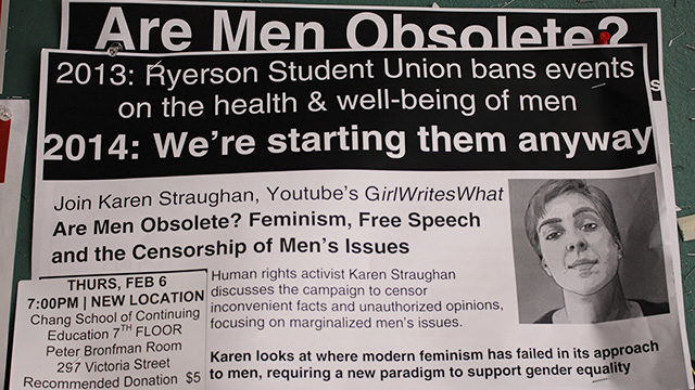 Ryerson to host controversial men's rights event