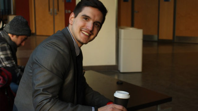 "Srdjan Pavicevic, a fourth-year Ryerson business student, tried out the ""Ten Thousand Coffees"" social network."