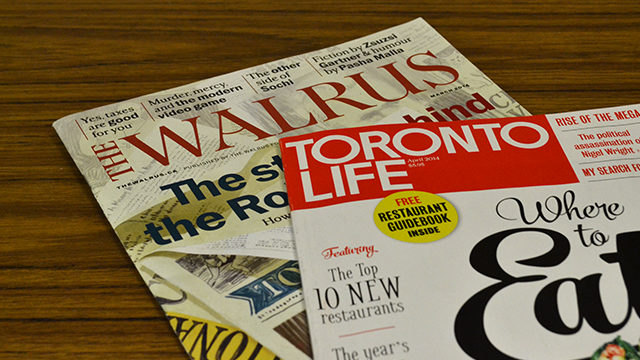 Toronto Life and the Walrus will be ending their unpaid internship programs this week. (Leslie Walker / The Ryersonian)