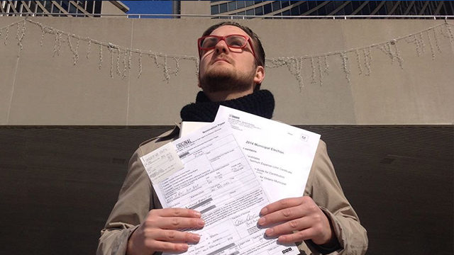 Ryerson graduate Michael Tasevski, 23, thinks he has what it takes to be Toronto's next mayor. (Photo Facebook)