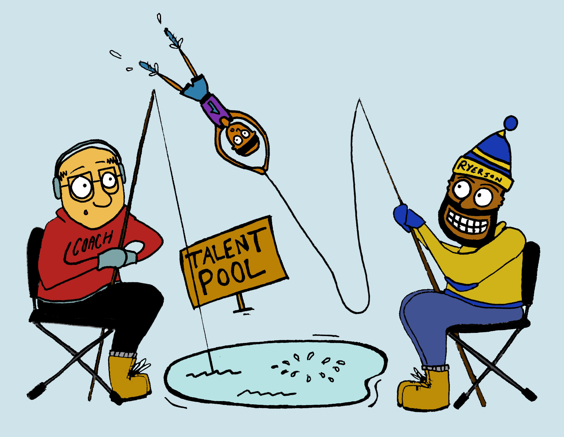 Fishing for talent, Ryerson is imporving in getting top taalent. (Matt Oxman/ Ryersonian Staff)
