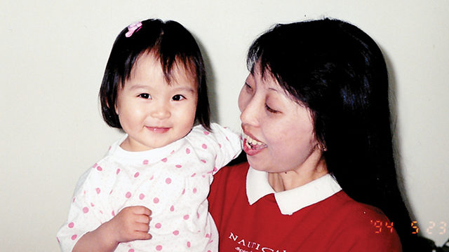 Two-year-old Hailey Chan with her aunt, Ala Yee. (Courtesy Hailey Chan)