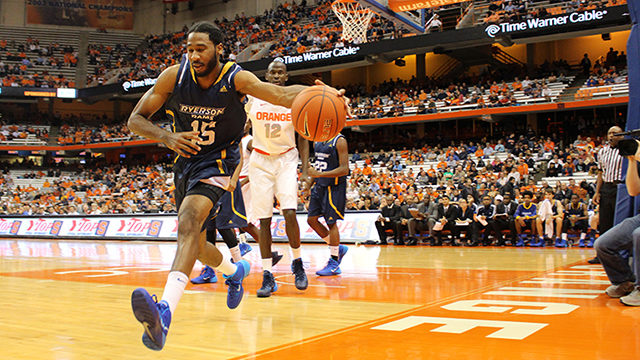 Kadeem Green took his talents to Ryerson after playing in the U.S. (Ryersonian file photo)