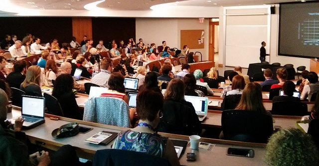 Attendees at Ryerson's Social Media & Society conference last year. (Courtesy socialland via Flickr)