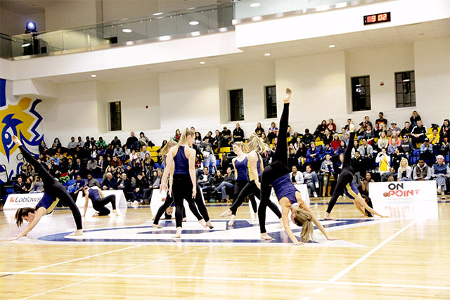 Dance Pak performs at nearly every home basketball game.