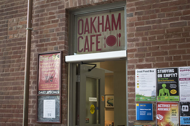 Oakham Café in the Student Centre building on 55 Gould St.