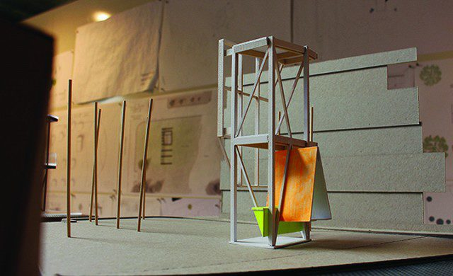 One of the fourth-year architectural design student concepts. (Sissi Wang / Ryersonian Staff)