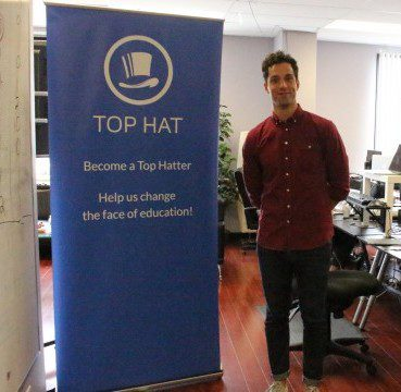 Top Hat account manager Paul Valenzano at their Toronto offices. (Sissi Wang / Ryersonian Staff)
