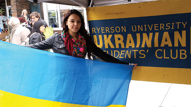 Yana Kachaluba is a Ukrainian student at Ryerson.