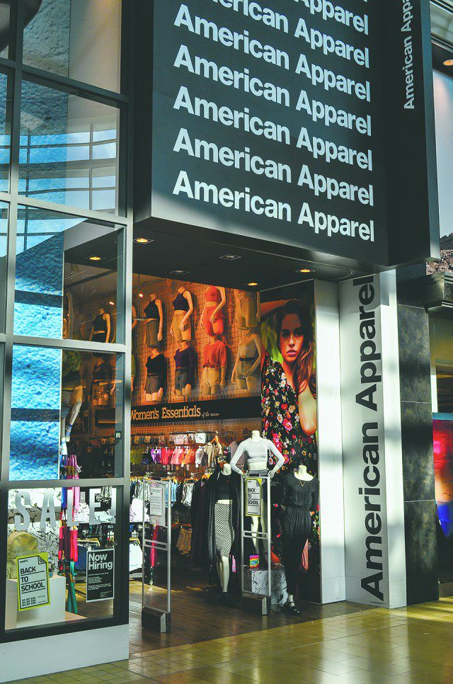 The American Apparel store at Yorkdale Shopping Centre. (Wikimedia commons)