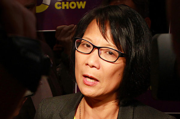 Chow speaking at Daniel's Spectrum in Regent Park after a mayoral debate.  (Alex Guibord/ Creative Commons)