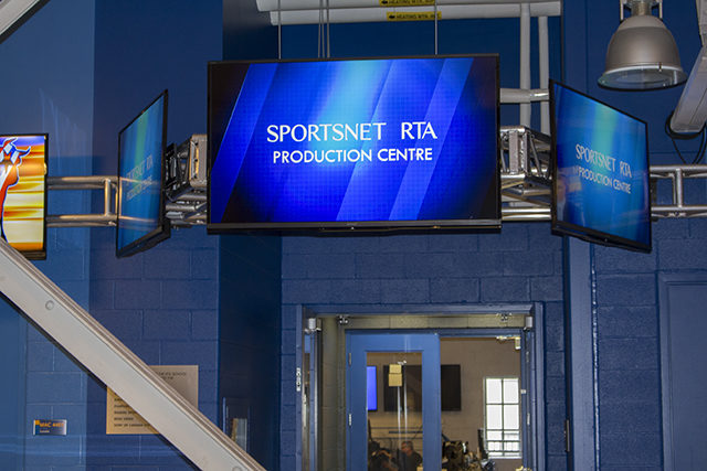 The Sportsnet RTA Production Centre has a price tag of over one million dollars - and climbing. (Laura Calabrese/Ryersonian Staff)