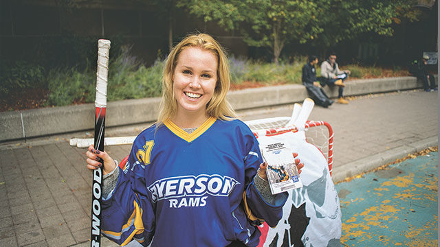 Ryerson's athletic department is heavily promoting the openign hockey game at the MAC this Thursday. Credit: Brian Batista Bettencourt