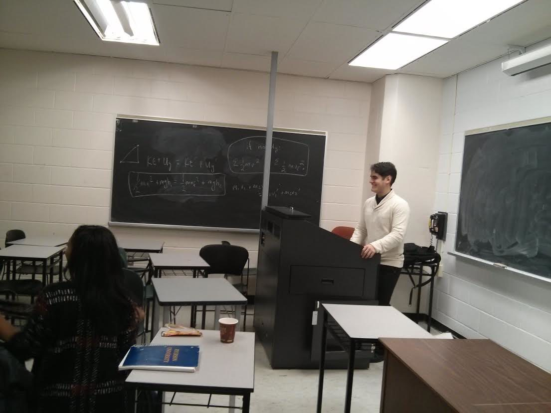 Fourth-year student Daniel hosts a stress management workshop (Fatima Syed / Ryersonian Staff)