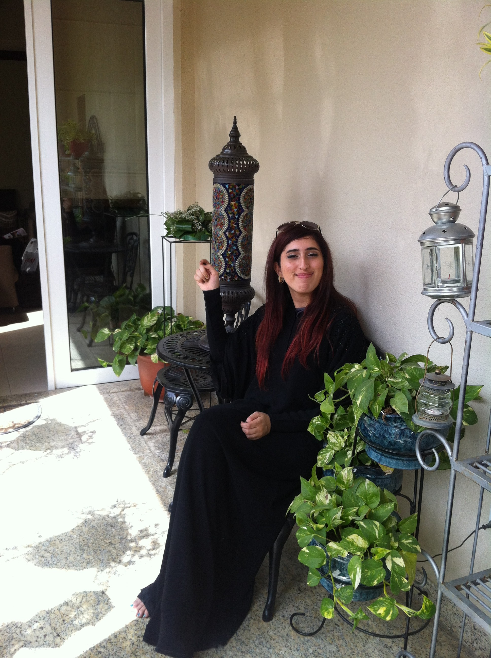 Hana outside of her grandmother's house in Dubai (Hana Shafi / Ryersonian Staff)