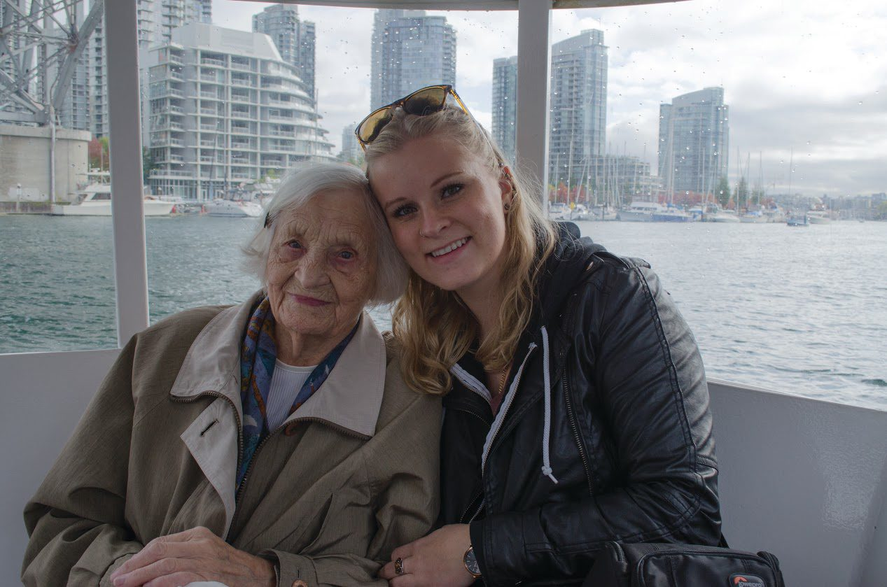 Rebecka Calderwood and her Oma Elizabeth (Rebecka Calderwood / Ryersonian Staff)