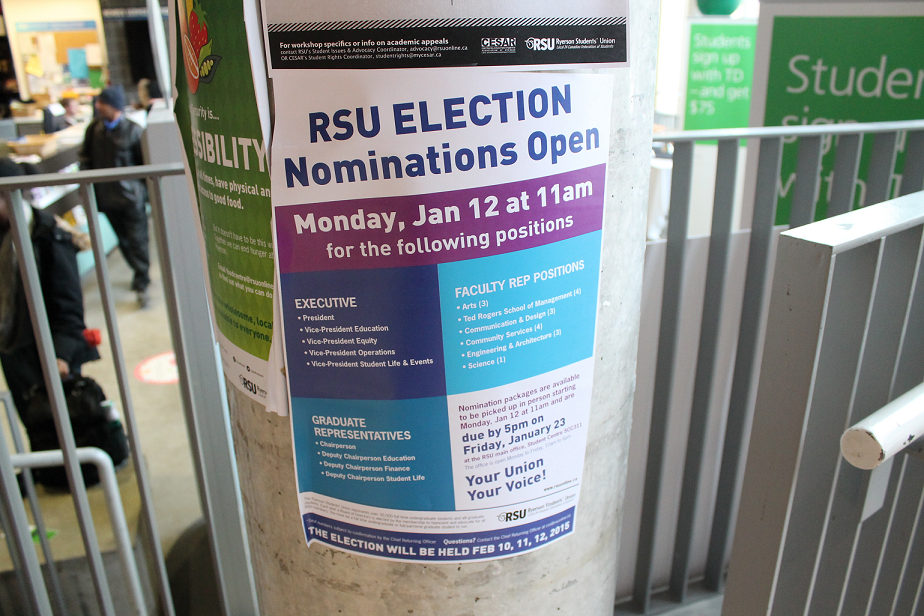 RSU nominations are due 5 p.m. Jan. 23. Elections take place in February. (Kyanna Vassell/ The Ryersonian)