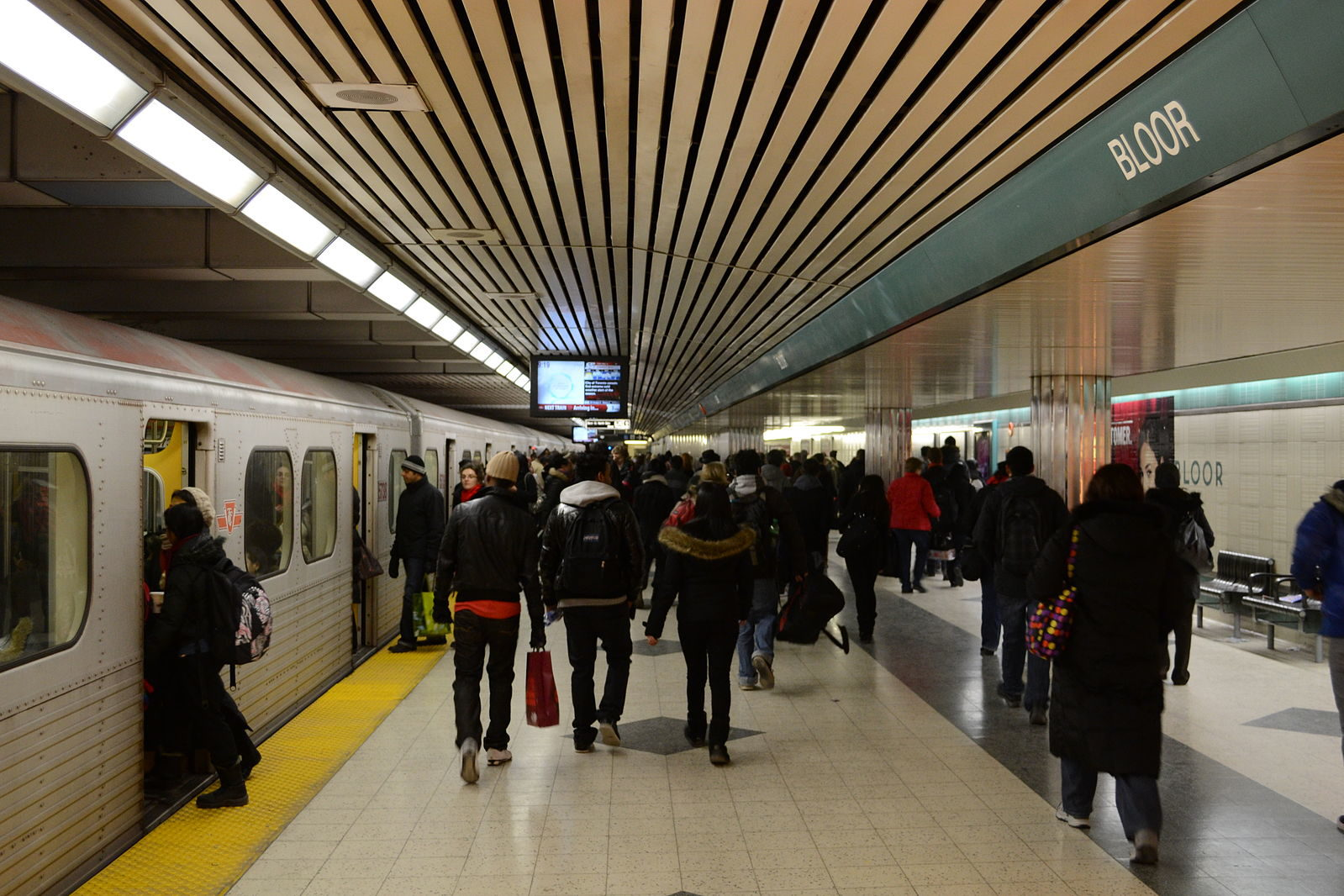 A file photo from a TTC subway station. (Courtesy of Ryersonian Staff)