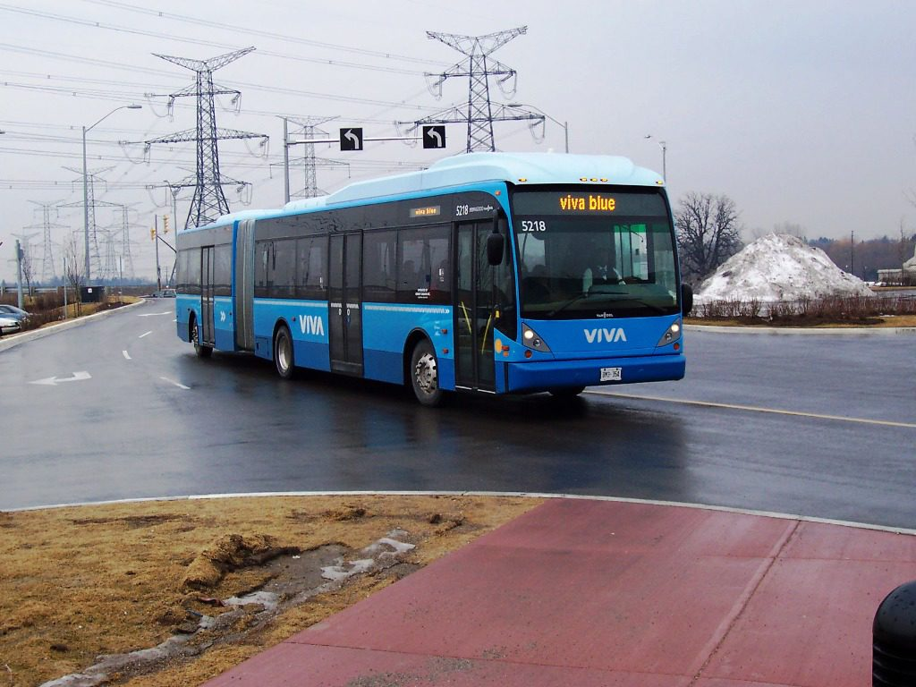 The Viva bus — Richmond Hill's somewhat efficient bus system. (Courtesy Wikimedia Commons)