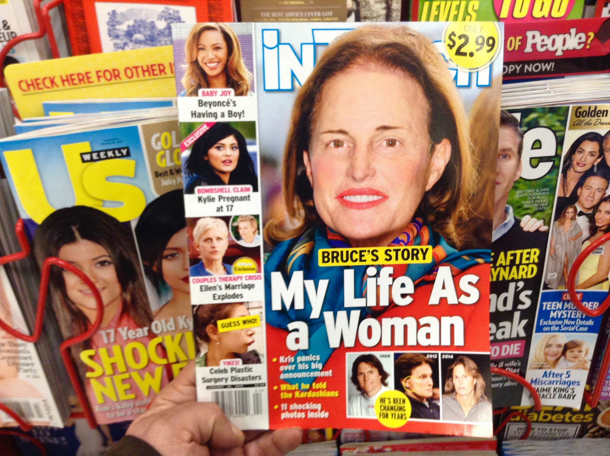 In Touch magazine's Photoshopped cover of Bruce Jenner as a woman. (Courtesy Mike Mozart / Flickr)