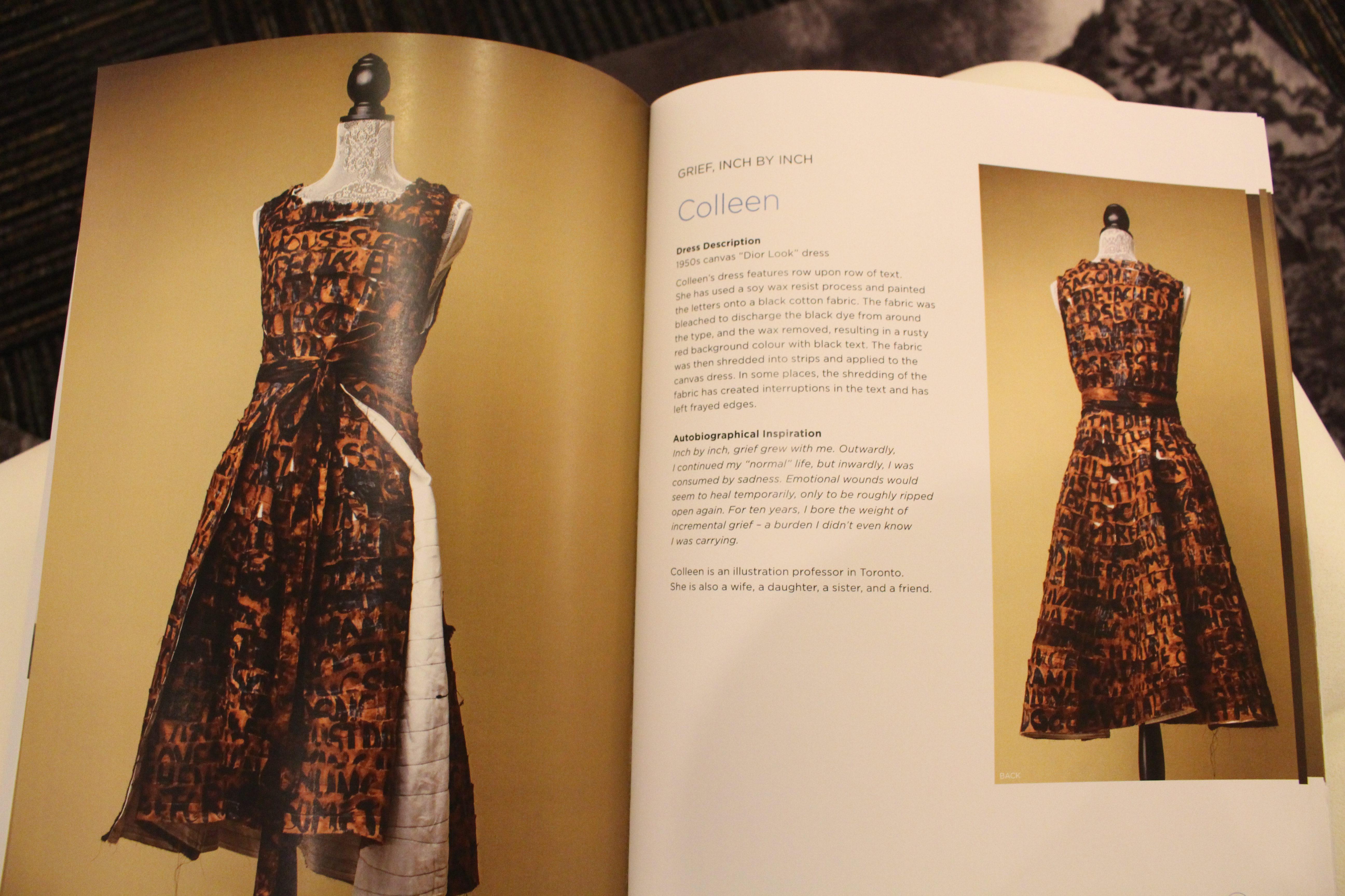 One story from the exhibit's exclusive magazine. (Caroline Dinnall / Ryersonian Staff)