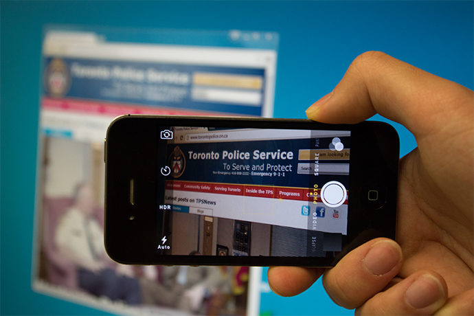 Law enforcement says social media posts are admissible in court. (Susana Gomez Baez / Ryersonian Staff)