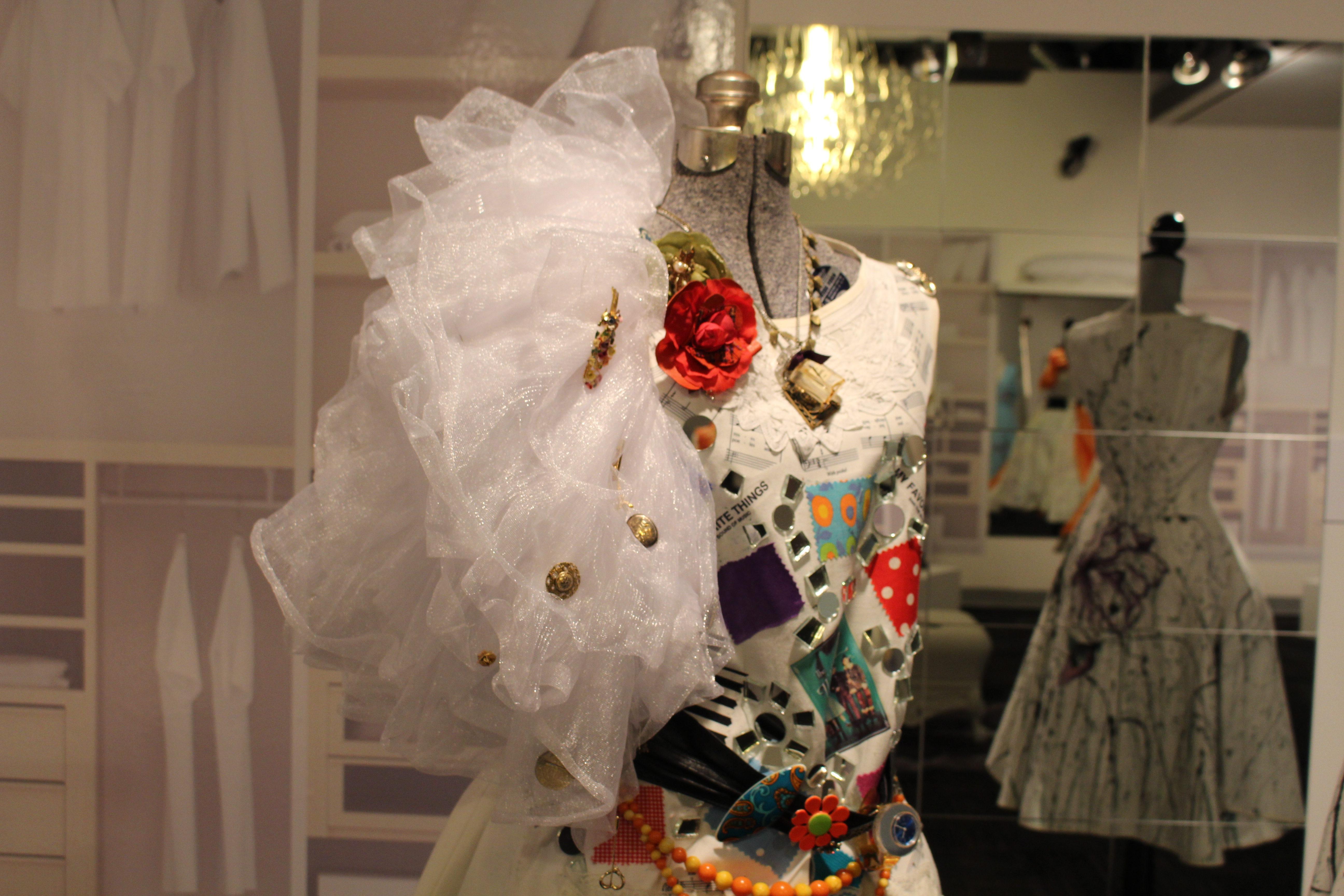 One of 14 dresses on display at Fashioning Life: Wear Your Story. (Caroline Dinnall / Ryersonian Staff)