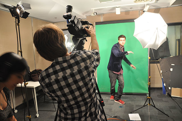 Behind the scenes photo shoot with Spencer Cathcart, also known as, Mr. Host Man.