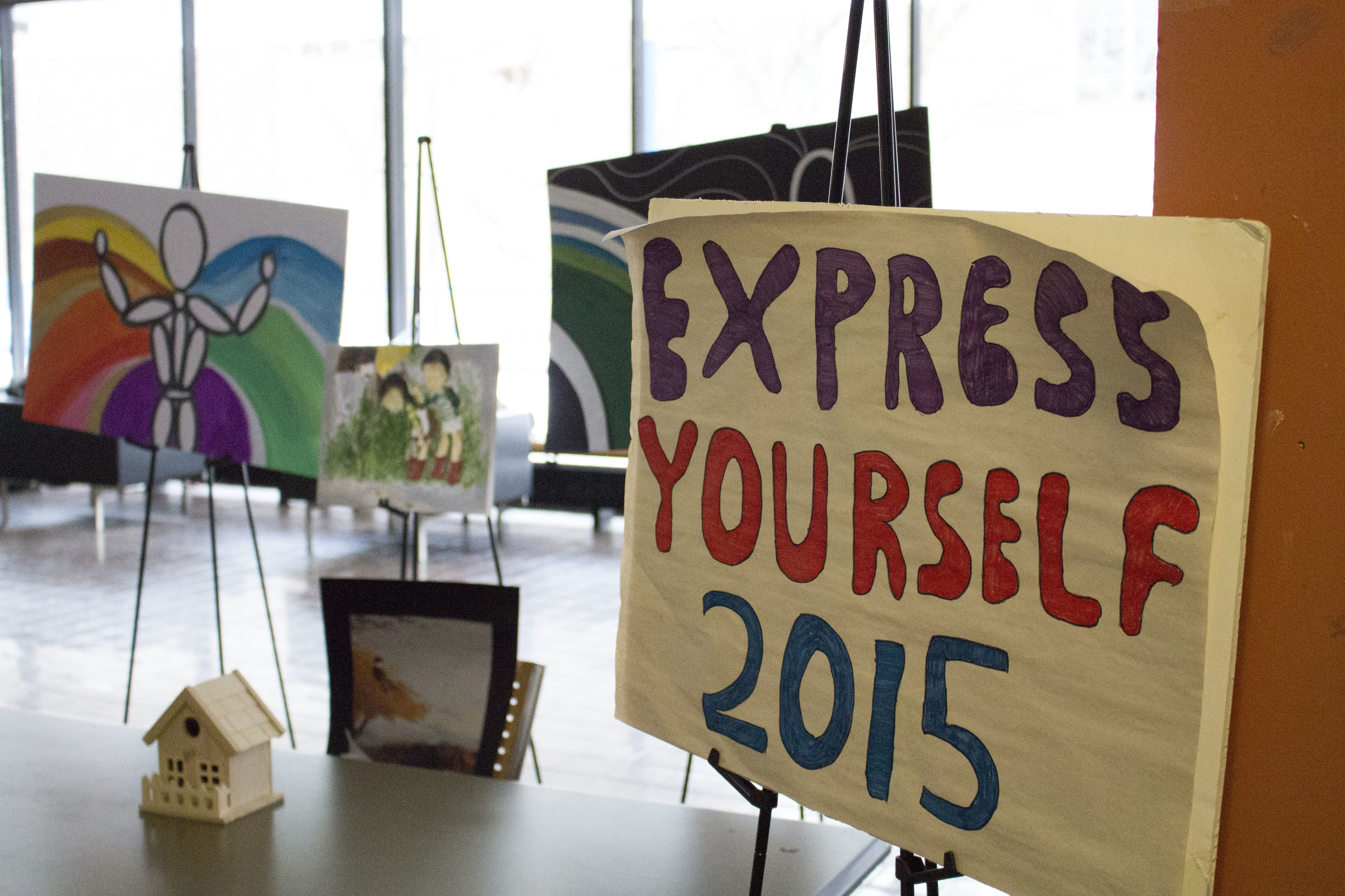Express Yourself has students and faculty submit art that portrays their definition of mental health. (Courtesy of Samantha Crisp/ Ryersonian Staff)