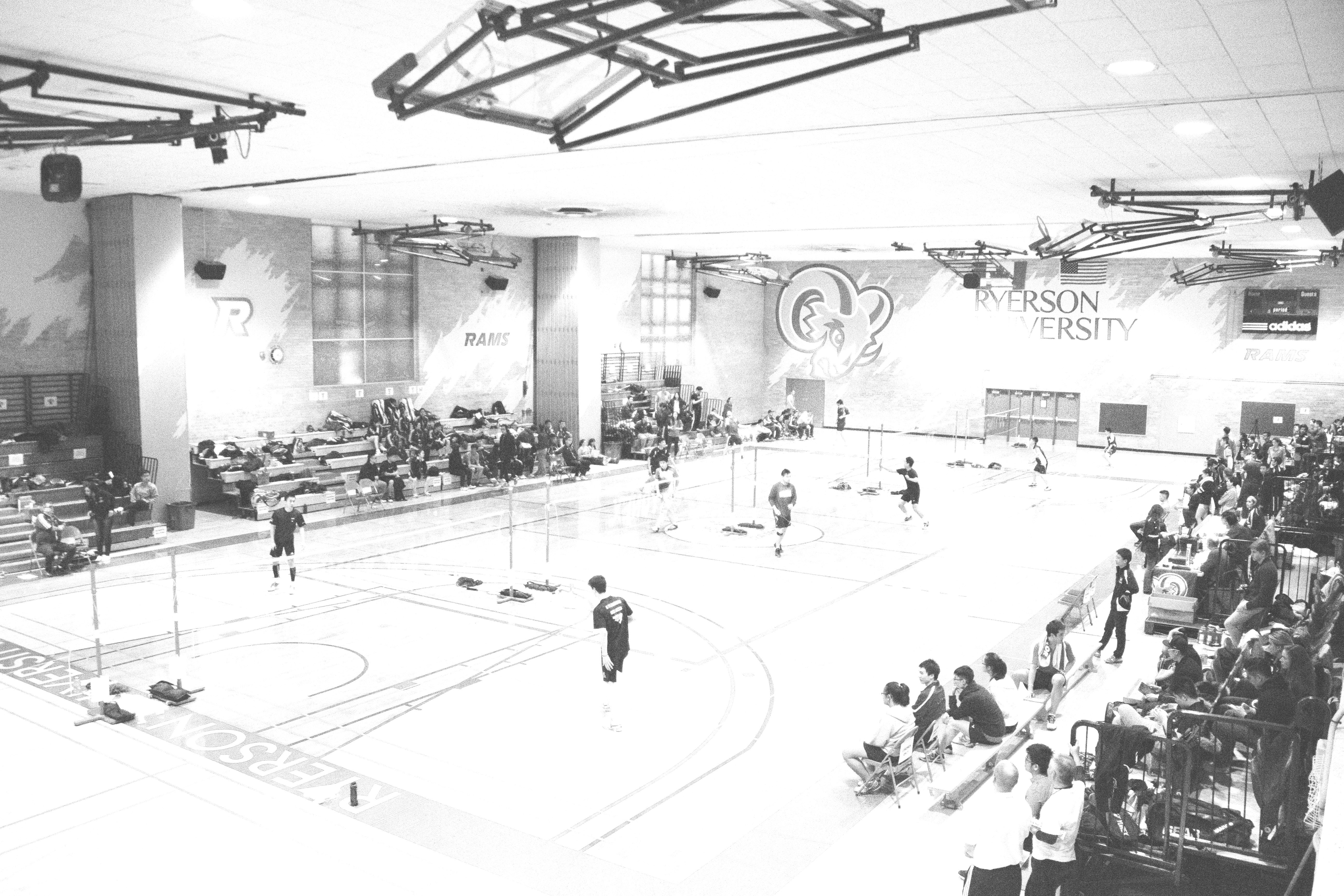 Kerr Hall Gym was host to the OUA Badminton Championship all weekend.