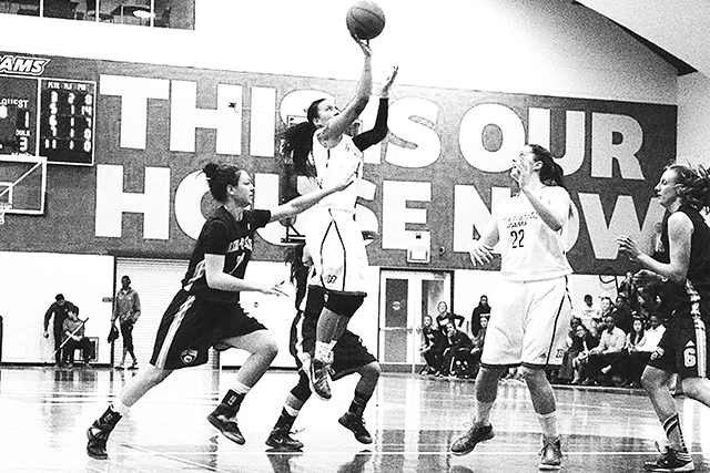 The Ryerson women's basketball team was able to create time and space on the offensive side of the ball, controlling the play and opening up high-percentage shots. (Courtesy of Ryersonian Staff)