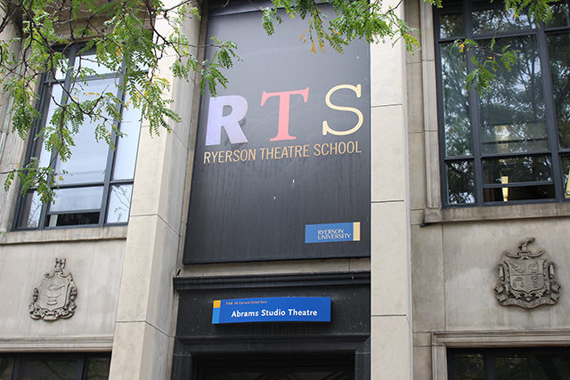 The Ryerson Theatre School will soon be moving from its current 44 Gerrard St. location. (Aengus Mulroney / Ryersonian Staff)