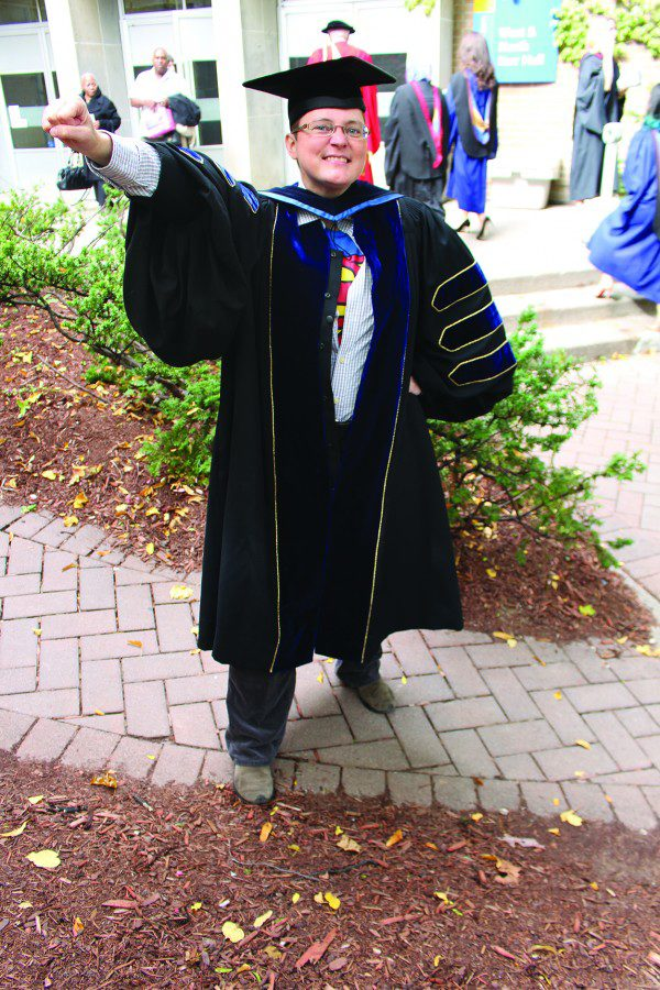 PhD grad Ellen Hibbard received her degree last Thursday. (Angelyn Francis / Ryersonian Staff)