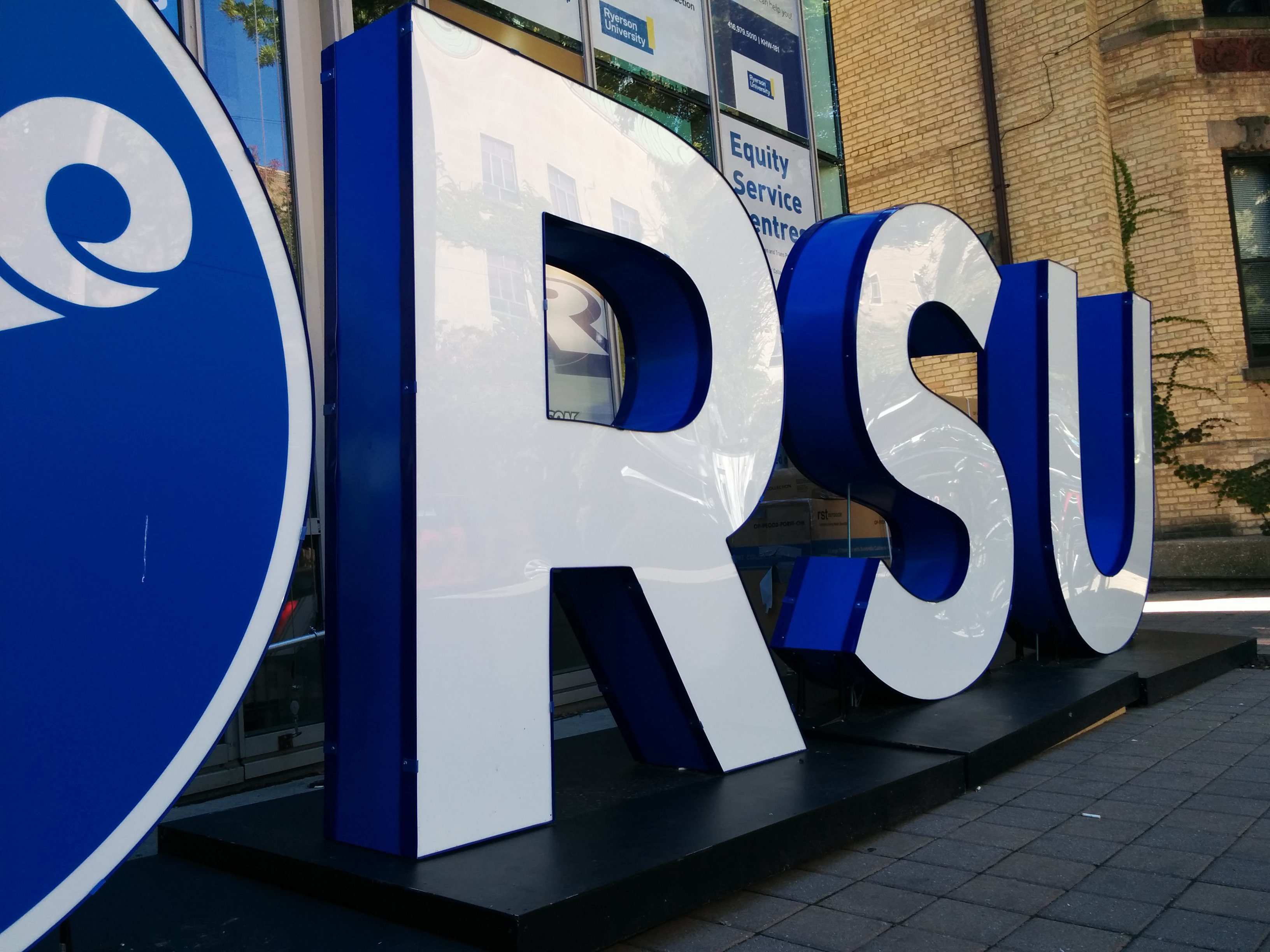The new RSU sign (Arthur White/Ryersonian Staff).