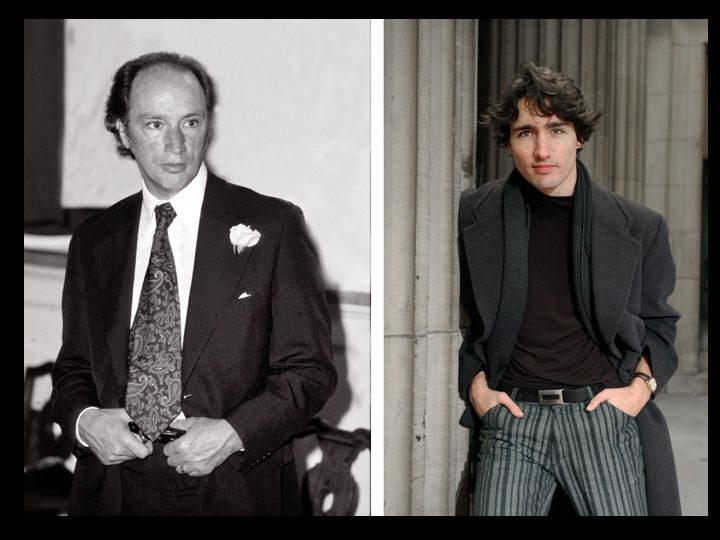 Bregg captured both Pierre Elliot Trudeau and his son Justin in a similar pose.