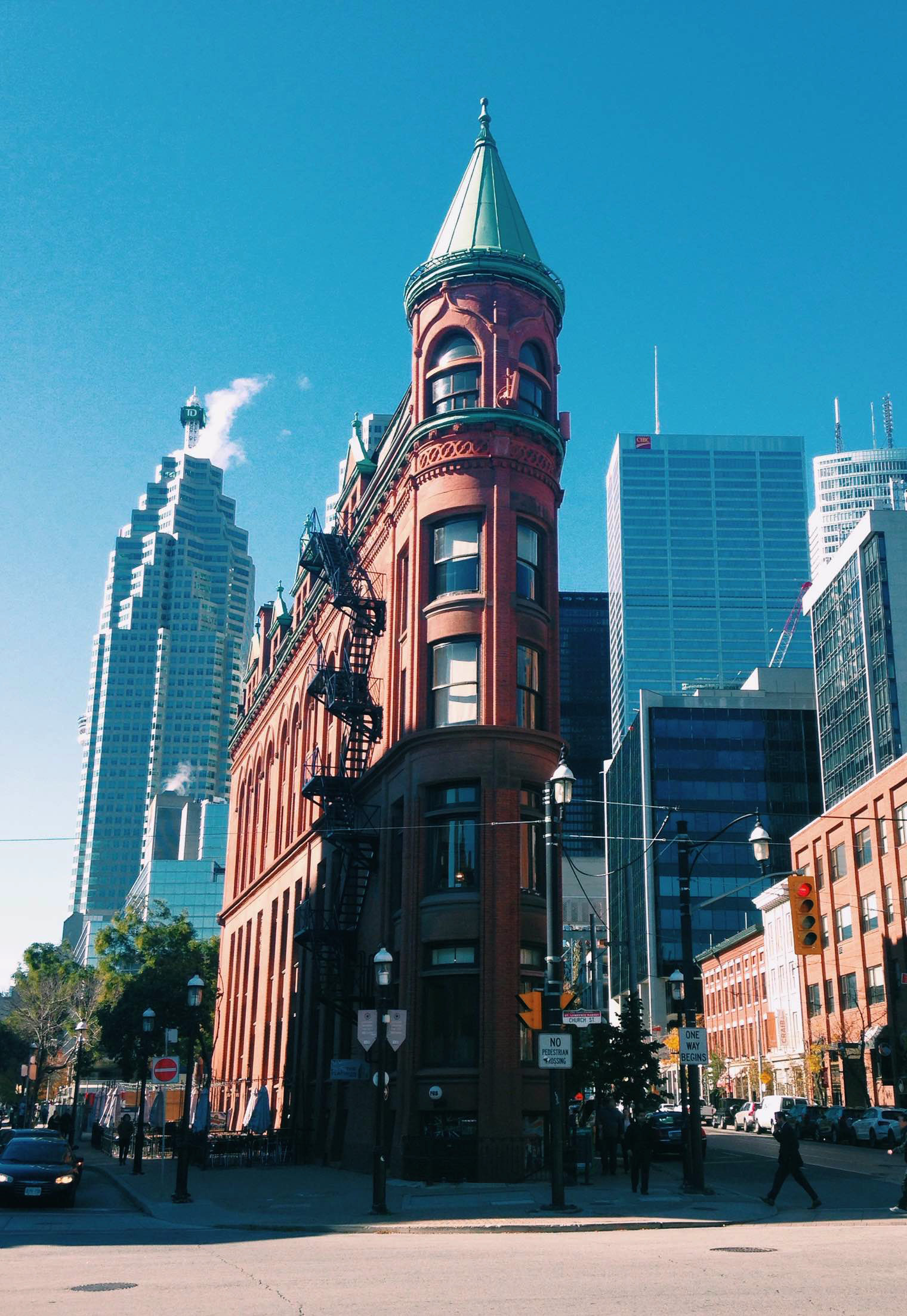 The Gooderham Building, located in Toronto's Distillery District, is the perfect place to explore during long breaks between classes. October 24